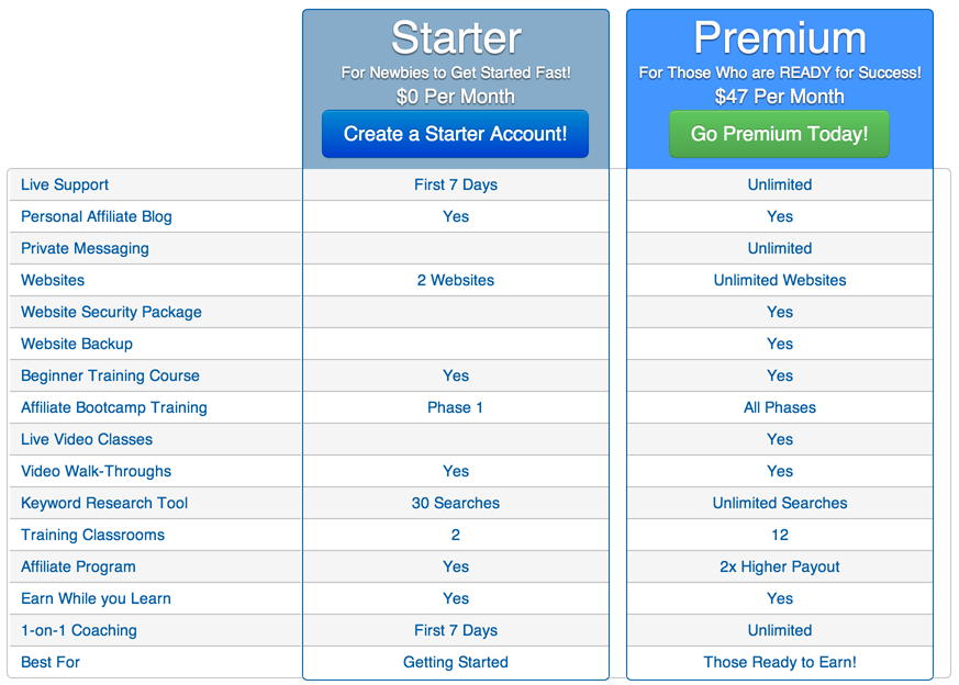 How to Learn How to Make Money online Premium vs starter