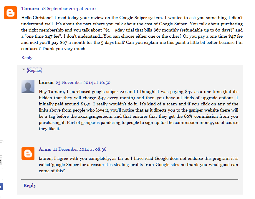 google sniper review scam