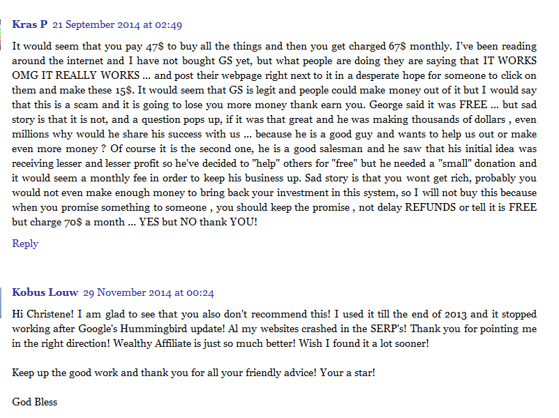 google sniper review scam comments 2