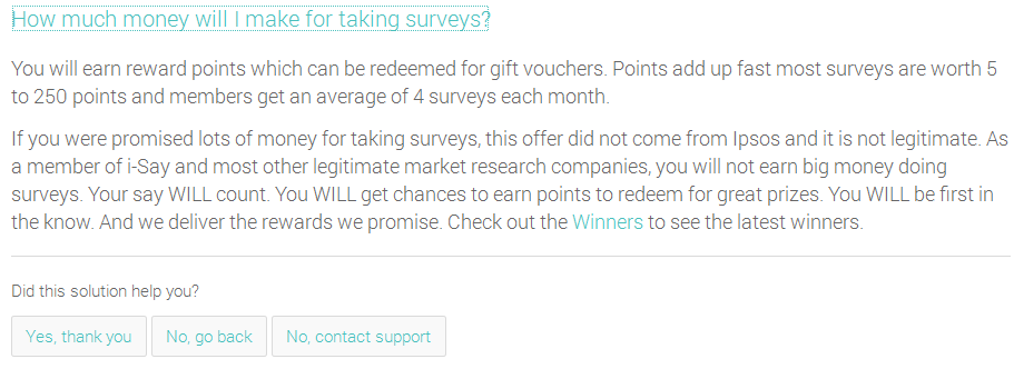I say surveys earning potential