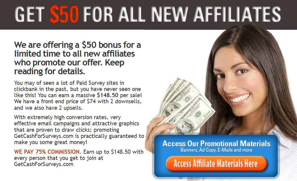 affiliate is get cash for surveys a