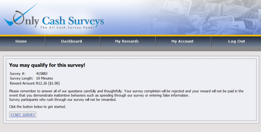 Only Cash Surveys survey 2
