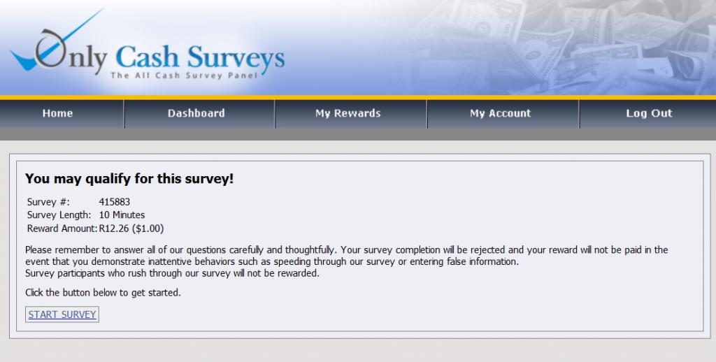 Only Cash Surveys survey 2