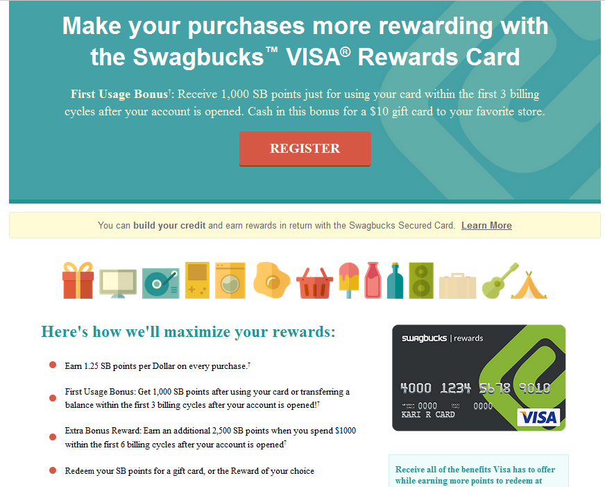 swagbucks credit card