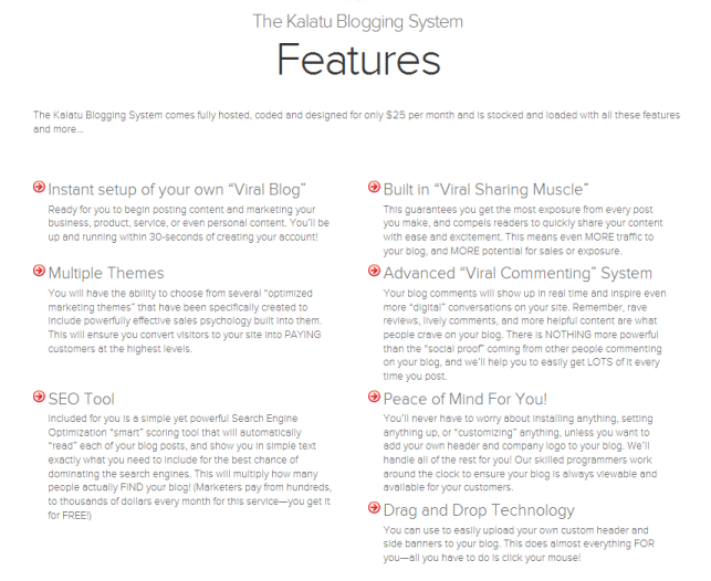 What is Kalatu Blogging System