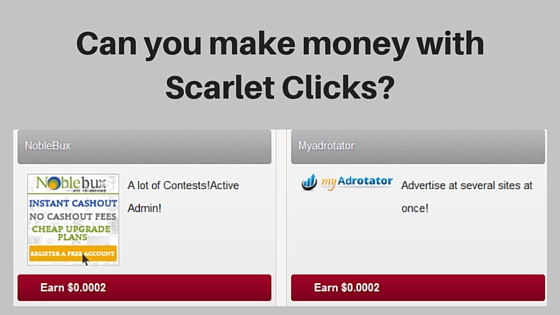 Can you make money with Scarlet Clicks