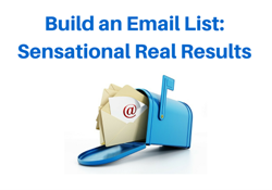 build an email list sensational results
