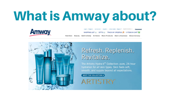 What is Amway about