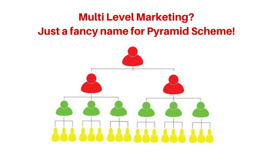 Is Multi Level Marketing a pyramid scheme