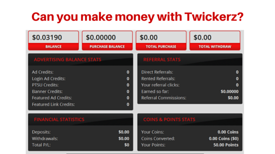 Can you make money Twickerz