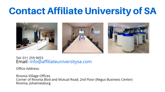 Contact Affiliate University of SA