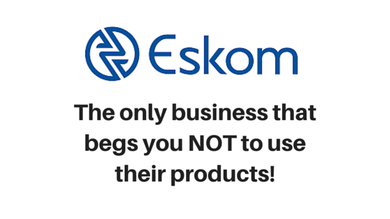 Eskom don't use electricity