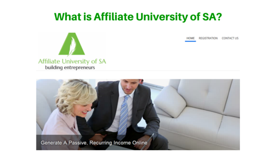 What is Affiliate University of SA about?