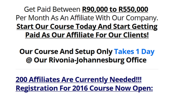 is Affiliate University of SA a scam?