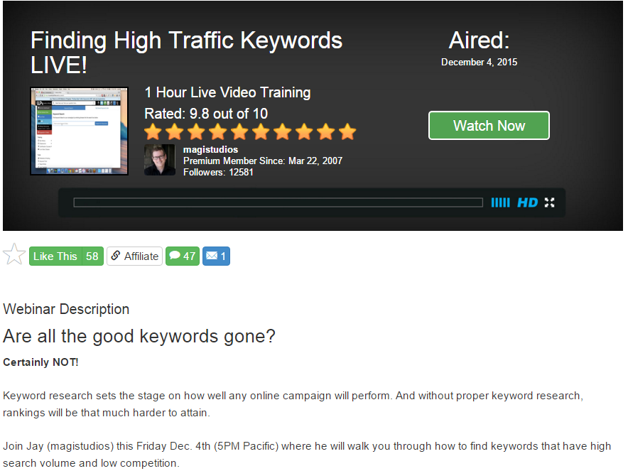Finding High Traffic Keywords