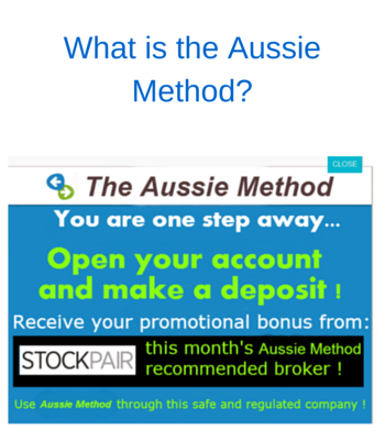 The Aussie method scam is is a binary options software program by a guy named Jake Pertu. Good ol Jake promises that the sky is the limit with this software and that you will make millions. Now the first month alone your supposed to make thousands of dollars with the this software from down under.