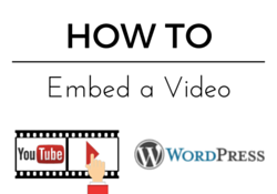 how to embed a youtube video in to a wordpress post blog
