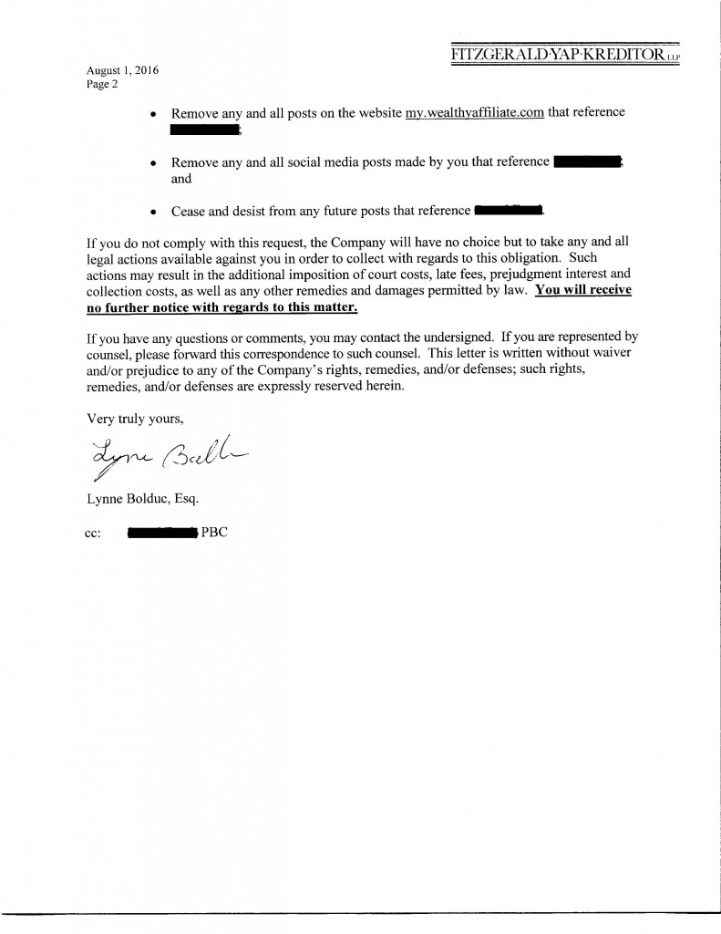 SF cease and desist letter page 2