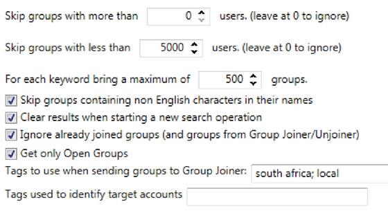 Mass planner Facebook Group Finder Details