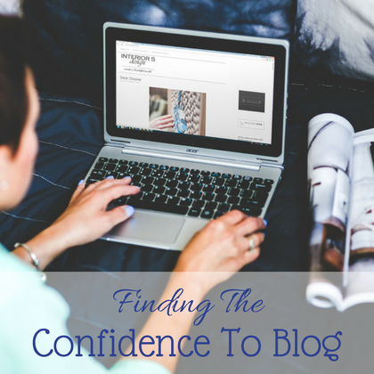 Finding the confidence to blog