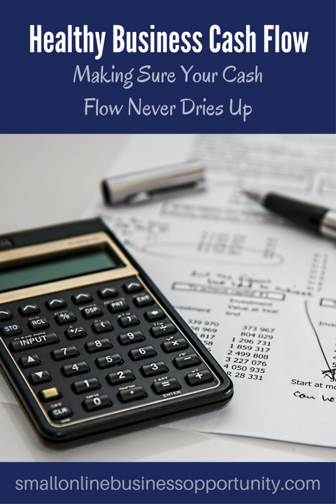 Healthy business cash flow pin