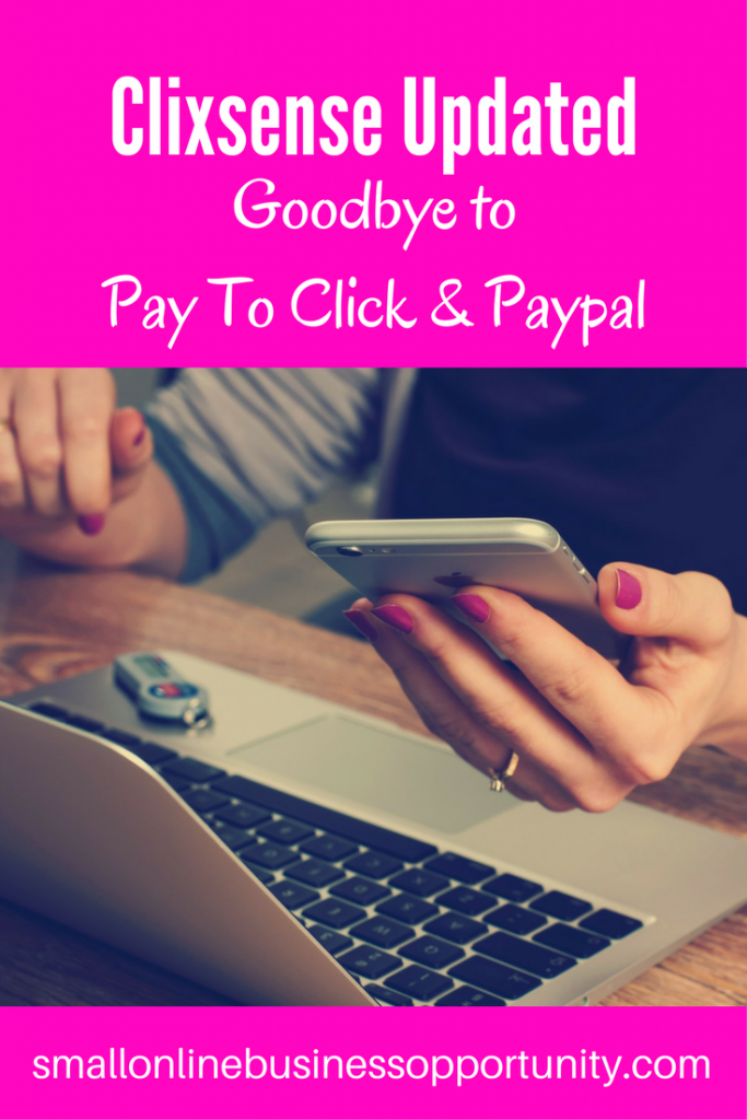 Clixsense updated pay to click paypal pinterest