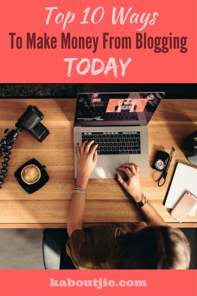 Ways to make money blogging today