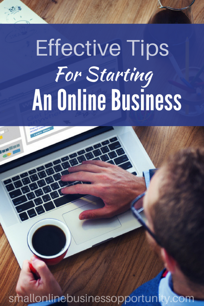 Effective tips for starting an online business pin