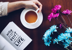 Tea Book Flowers