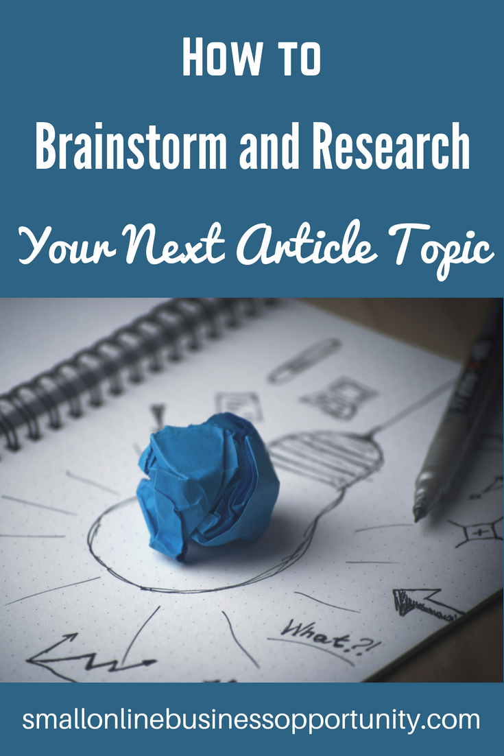 how to brainstorm and research your next article topic