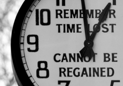 Time lost clock