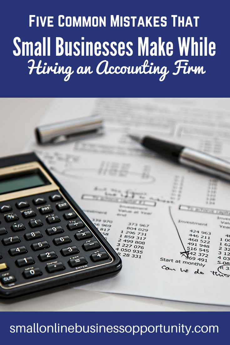 five common mistakes that small businesses make while hiring accounting firm