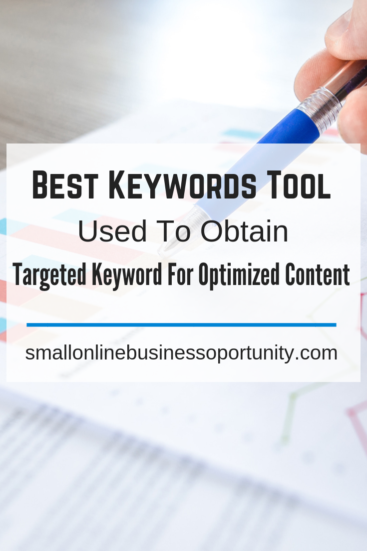 Best Keywords Tool used to obtain Targeted Keyword for Optimized Content