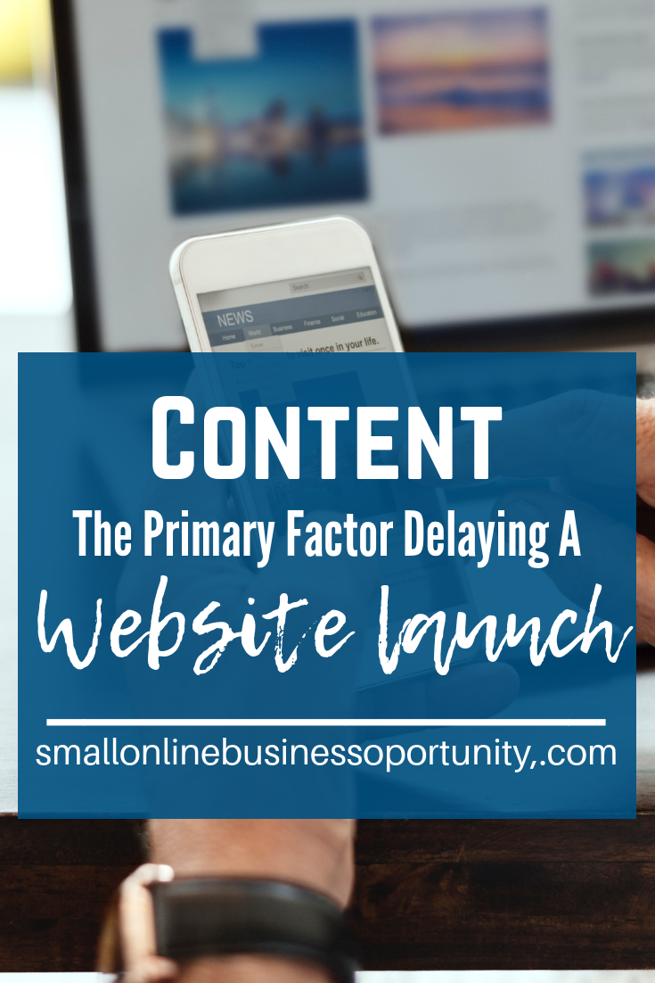 Content is the Primary Factor in Delaying a Website Launch