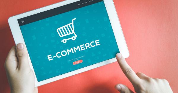 E-commerce store on tablet
