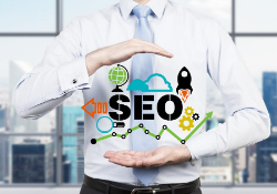 Man SEO graphics